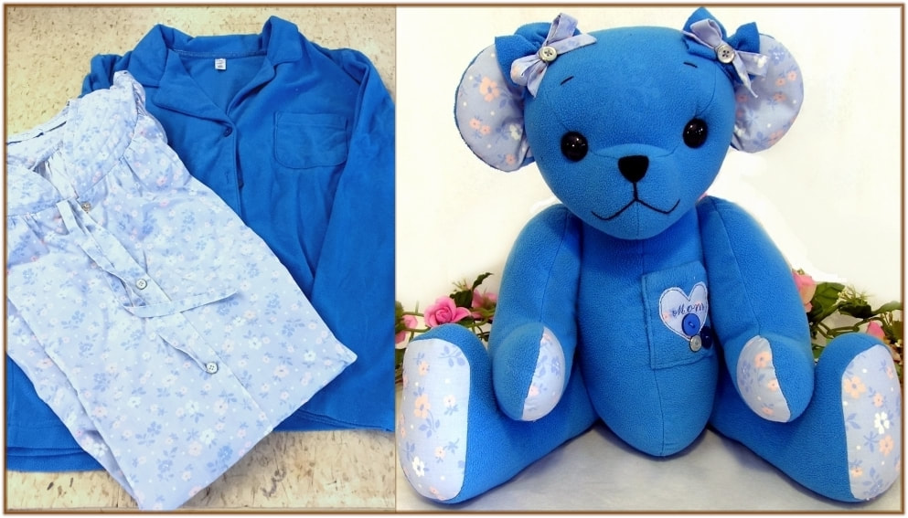 Memory bear from loved ones clothing