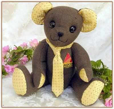 Handmade Memory Teddy Bears From Special Clothing By