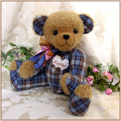Memory Teddy Bears Handmade From Your Special Clothing